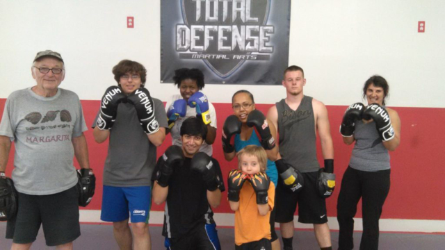 Our boxing class!