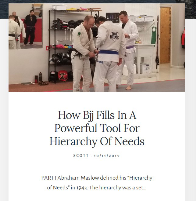 Barbarian Rhetoric Publishes Scott Barker's Article about BJJ